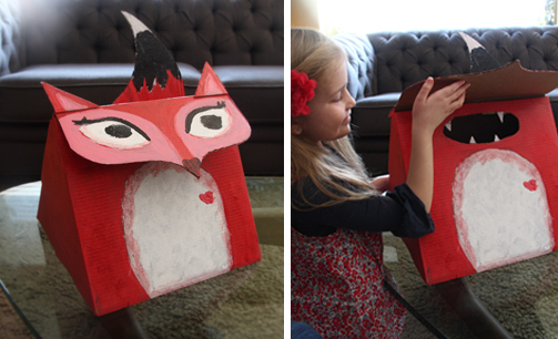 fantastic miss fox the valentine box - Valentine Boxes For Girls
